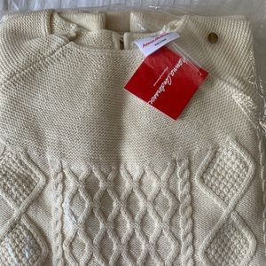 Hanna Andersson ivory cable knit sweater dress